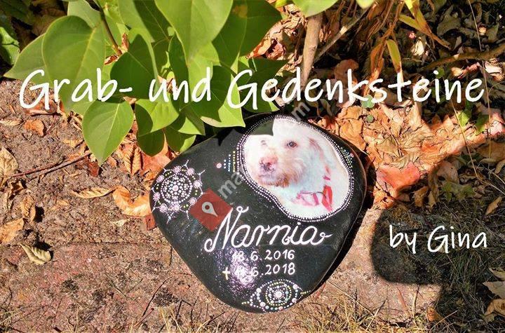 Grab und Gedenksteine für Tiere by Gina